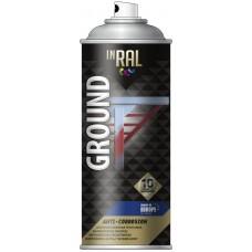 Грунт аэрозольный антикоррозийный INRAL GROUND 400мл, серый RAL7040