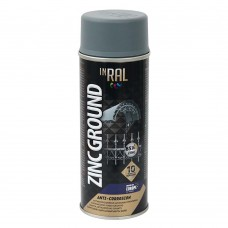 Грунт аэрозольный антикоррозийный INRAL ZINC GROUND 400мл, цинк