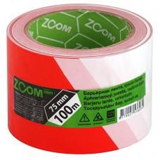 Барьерная лента ZOOM красно-белая 75мм х 100м (24шт)
