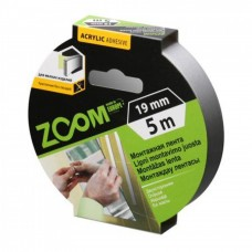 Лента двухсторонняя пеновая 19мм*5м ZOOM (48шт)