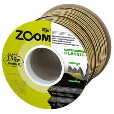 Уплотнитель самоклеящийся ZOOM Classic  E-профиль коричневый, 150м/6шт
