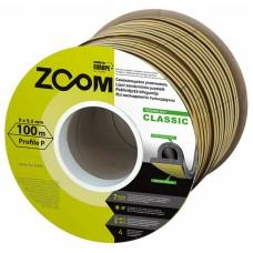 Уплотнитель самоклеящийся ZOOM Classic  P-профиль черный, 100м/6шт*