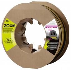 Уплотнитель самоклеящийся промышленный ZOOM Industrial D-профиль 12х10 черный, 50м/6шт