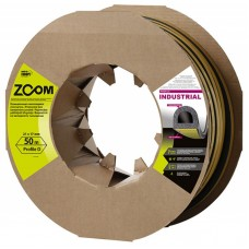 Уплотнитель самоклеящийся промышленный ZOOM Industrial D-профиль 21х17 черный, 50м/2шт