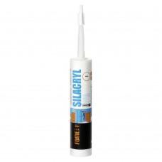 Герметик силиконовый акриловый FOME FLEX Silacryl белый (300мл;12шт)