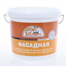 Краска Супербелая Фасадная латексная (14 кг)  ЭКСПЕРТ