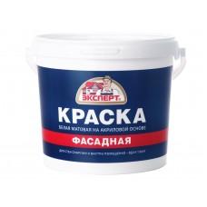 Краска Фасадная акриловая белая  (14 кг)  ЭКСПЕРТ
