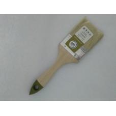 """Кисть плоская МИКС  2,5""""/63 мм из смешанной светлой щетины, дерев.рукоятка (12шт) /0101413L"""