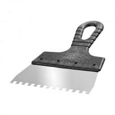 Шпатель зубчатый из нержавеющей стали  200 мм, зуб 6*6 (24шт) /1205106L