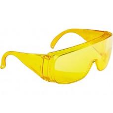 ОЧКИ защитные, открытый тип, желтые  12223