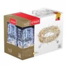 24V Гирлянда-констр Занавес 192 теплых LED ламп, 6 нитей, 1*4м (32/4шт) VEGAS /55024