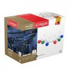 24V Гирлянда-констр Лампы 6 шт, (6*8 разноцветных LED ламп) 2,4м (12/4шт) VEGAS /55040