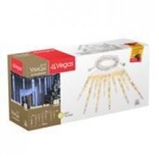 24V Гирлянда-констр Сосульки 10 шт (30см,20 см) 40 теплых LED ламп, 2м (4шт) VEGAS /55036