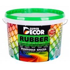 """Краска резиновая """"SUPER DECOR"""" № 4 дикая вишня 1кг (6шт)"""