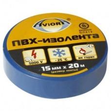 Изолента ПВХ, 15 мм х 10 м, AVIORA (синяя)/10шт/250шт/305-029/305-058