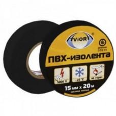 Изолента ПВХ, 15 мм х 20 м, AVIORA (черная)/10шт/200шт/305-004