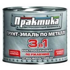 Грунт-эмаль по ржав. 3 в 1 быстросох. серая ПРАКТИКА (1,9кг;6шт)