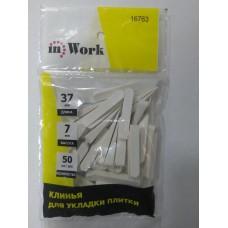 Клинья  для плитки inWork 37х7мм (50 шт)
