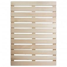 """Решетка на пол 60х70х3 см для бани и сауны (липа) """"Банные штучки""""(5шт)03602"""