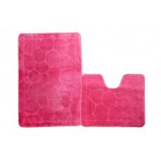 Набор ковриков д/ванн  0,5х0,8; (0,5х0,5 ) принт цветной