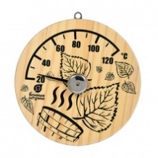 """Термометр """"Листья"""" 14х14х2,5 см для бани и сауны """"Банные штучки"""" (10шт)/18041"""