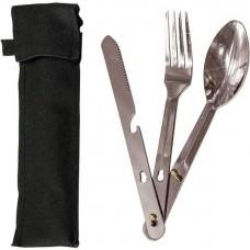 Набор столовых приборов  (вилка, ложка,нож), в чехле, 16 см /24шт/61085