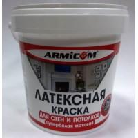Краска Латексная для стен и потолков супербелая матовая ( 3кг) ARMICOM