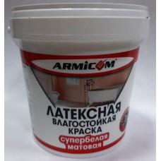 Краска Влагостойкая латексная супербелая матовая ( 12кг ) ARMICOM